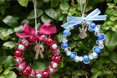 Easy Ribbon and Bead Christmas Decorations