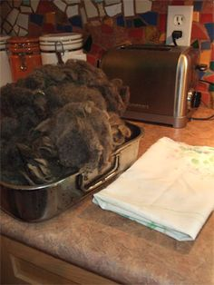 Yarn Harlot's Fleece Washing Method