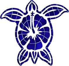 Hibiscus Turtle x Glossy Ceramic Pool Tile Pool Mosaic Tiles, Mosaic Tile Designs, Marble Mosaic, Swimming Pool Mosaics, Swimming Pools, Hawaiianisches Tattoo, Thai Tattoo, Maori Tattoos, Tribal Tattoos