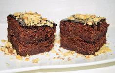 Prăjitura de post cu gem de prune și nuci