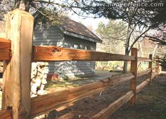3-Rail Western Red Cedar Split Rail Fence