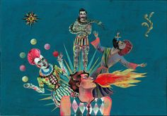 Olaf Hajek - Circus   http://www.fastcodesign.com/1665173/olaf-hajek-s-wallpaper-turns-hotel-rooms-into-a-wild-circus
