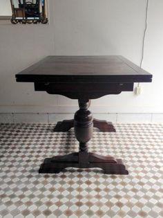 イギリスアンティーク家具 ドローリーフテーブル/伸長式 F1