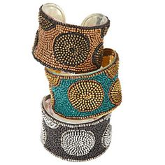 Off the Cuff  Women artisans in India receive part of the proceeds from these funky bracelets. $22, worldofgood.com