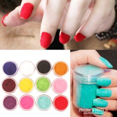 $ 2,99 1pc Fun flocagem Velvet Pó Nail Manicure Nail Art Polonês 14 cores - BornPrettyStore.com