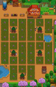 Stardew Valley is an open-ended country-life RPG with support for players. Stardew Farms, Stardew Valley Farms, Game Boy, Stardew Valley Layout, Fallout, Stardew Valley Tips, Harvest Moon, Fun Games, Geek Stuff