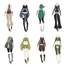 Naruto Outfit Adoptables 9 [CLOSED] // lower price by xNoakix3.deviantart.com on @DeviantArt