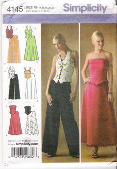 Pattern Simplicity 4145 Misses's Top - Skirt - Pants Size 14-22 UNCUT