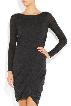 Donna Karan | Ruched cashmere mini dress | NET-A-PORTER.COM