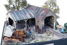 Akos Szabo's Logging and Tractor Repair Shed.