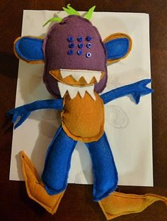 Let him draw a monster...then make it into a plush toy!