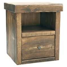 1 Drawer Bedside Table, handmade using top quality solid wood right here in the UK. Create your own piece of Funky Chunky Furniture by choosing your own finish and handle type.