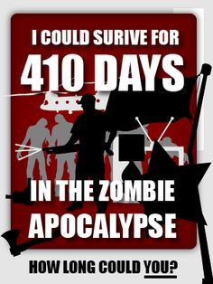 According to this quiz, I'd survive for 391 days. How about you?