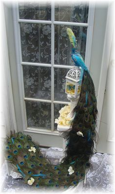 Winning FOUR WEDDINGS 48 inch Exquisite Peacock cake topper in your choice of colors on Etsy, $200.00