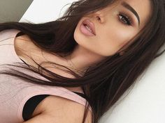 beauty, brunette, and girl image Beauty Make-up, Beauty Hacks, Hair Beauty, Make Up Looks, Flawless Makeup, Face Makeup, Sexy Makeup, Makeup Style, All Things Beauty