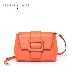 JESSIE&JANE Designer Brand New Style Fashion Split Leather Women Crossbody Bags Shoulder Bag Messenger Bags 1539