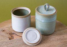 Pottery Jar / Containers / Ceramic Jar with Lid by MadAboutPottery