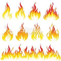 flamme zeichnen einfach