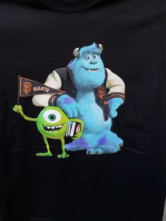 These monsters came to play!  The awesome shirt given to attendees of the first (and hopefully not last) special event Pixar night at a Giants game.  Pixar and baseball...what could be better?