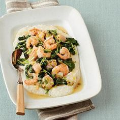 Low calorie and fat, high protein.  Can't wait to make this.  Shrimp and Grits Recipe | MyRecipes.com