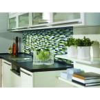 Smart Tiles Murano Verde 10.20 in. x 9.10 in. Peel and Stick Mosaic Decorative Tile Backsplash in Spring Green SM1058-1 at The Home Depot - Mobile