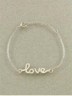 Delicate Silver Love Bracelet