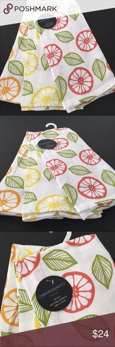 Cynthia Rowley Kitchen Towels Fruit Lemon Orange Cynthia Rowley Kitchen  Towels (set Of 3)