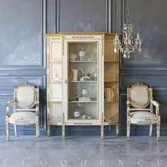Eloquence One of a Kind Antique Italian Display Case 1870 French Country Farmhouse, French Country Style, French Country Decorating, Antique French Furniture, Furniture Collection, French Antiques, Decorative Items, Beautiful Homes, Interior Design