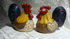 Adorno de Cocina Ceramic Pottery, Ceramic Art, Biscuit, Rooster, Lily, Country, Kitchen, Jars, Pink