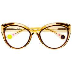 Christian Roth Eyeglasses - 2014/2015 - Fly Girl - in Camel Crystal