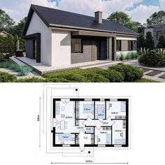 Home Map Design, Dream Home Design, Home Design Plans, Small Modern House Plans, Beautiful House Plans, Sims House Plans, Dream House Plans, Simple House Design, Modern House Design