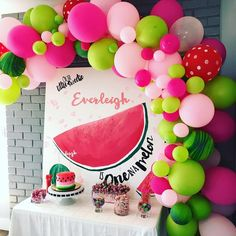 100 Pack Watermelon Party Decorations Balloon Garland & Arch Kit 100 Balloons for Wedding Baby Shower Birthday Party Backdrop - - Watermelon Party Decorations, Watermelon Birthday Parties, Balloon Decorations Party, Summer Birthday, Balloon Garland, Watermelon Wedding, Watermelon Ideas, Balloon Ideas, Balloons