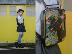 Oil Painting Graphic Backpack - OASAP.com