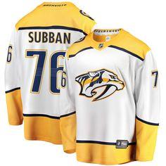 291d38ab7 Men s Nashville Predators P.K. Subban Fanatics Branded White Away Premier  Breakaway Player Jersey