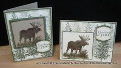 """By France Martin. Uses stamps from Stampin' Up's """"Walk in the Wild"""" and """"Lovely as a Tree"""" stamp sets."""