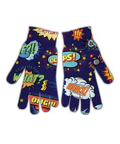 Keep your hands warm and toasty with these soft, colorful gloves that feature a unique, eye-catching design that is sure to be a conversation-starter.