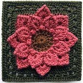 Ravelry: Crocodile Stitch Afghan Block - Dahlia Free pattern by Joyce Lewis ♡ Teresa Restegui http://www.pinterest.com/teretegui/ ♡