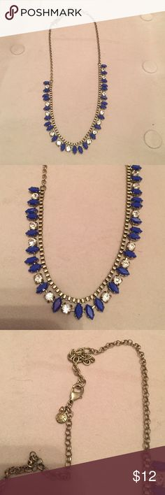 """J. Crew Statement Necklace Blue accents about 22"""" end to end J. Crew Jewelry Necklaces"""