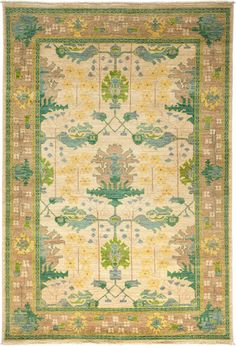 Arts & Crafts Hand-Knotted Rug - 6′1″ × 8′9″ on Chairish.com