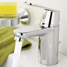 Grohe Eurosmart Cosmopolitan 32824000 Basin Mixer Tap Smooth Body Without Hole for Lift Rod: Amazon.co.uk: DIY & Tools