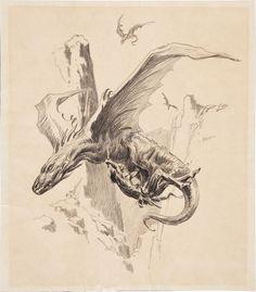 Original Comic Art:Illustrations, Roy G. Krenkel Tarzan vs. the Thipdar Illustration OriginalArt (undated).... Image #1