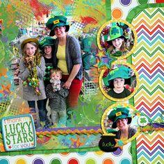 Digital Scrapbook Page by Teresa | Lucky Stars by Bella Gypsy