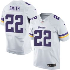 Nike Elite Harrison Smith White Men's Jersey - Minnesota Vikings #22 NFL Road