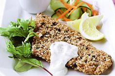 Coating fish fillets in oats instead of plain breadcrumbs gives them a glorious crunch. See notes section for Low FODMAP diet tip.