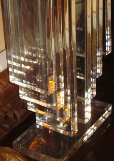 Vintage Mid Century Modern Lucite Lamp with by LazyDogAntiqueStore