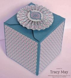 Stampin' Up! UK - Envelope Punch Board Class Projects. I got the basic box from a tutorial by Diane Dimlich http://www.pinterest.com/pin/466122630154520087/