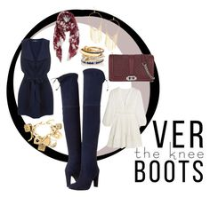 """""""Over the Knee Boots"""" by midyettee ❤ liked on Polyvore featuring Zimmermann, Stuart Weitzman, Miss Selfridge, Nordstrom, Lana, SPINELLI KILCOLLIN, Rebecca Minkoff and Moschino"""