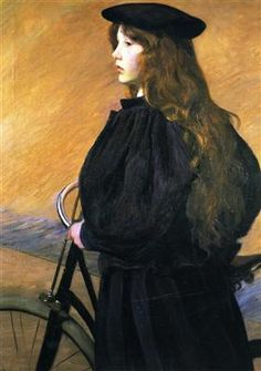 Young Bicyclist - Lilla Cabot Perry