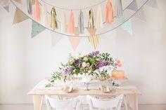 different handmade garlands, in burlap, vintage fabrics and tassels >> www.velvetine.nl/shop
