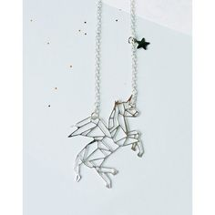 Monoceros Winged Unicorn Constellation Necklace ($21) ❤ liked on Polyvore featuring jewelry, necklaces, unicorn necklaces, wing jewelry, wing necklace and unicorn jewelry